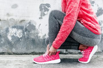 pink work out shoes cover